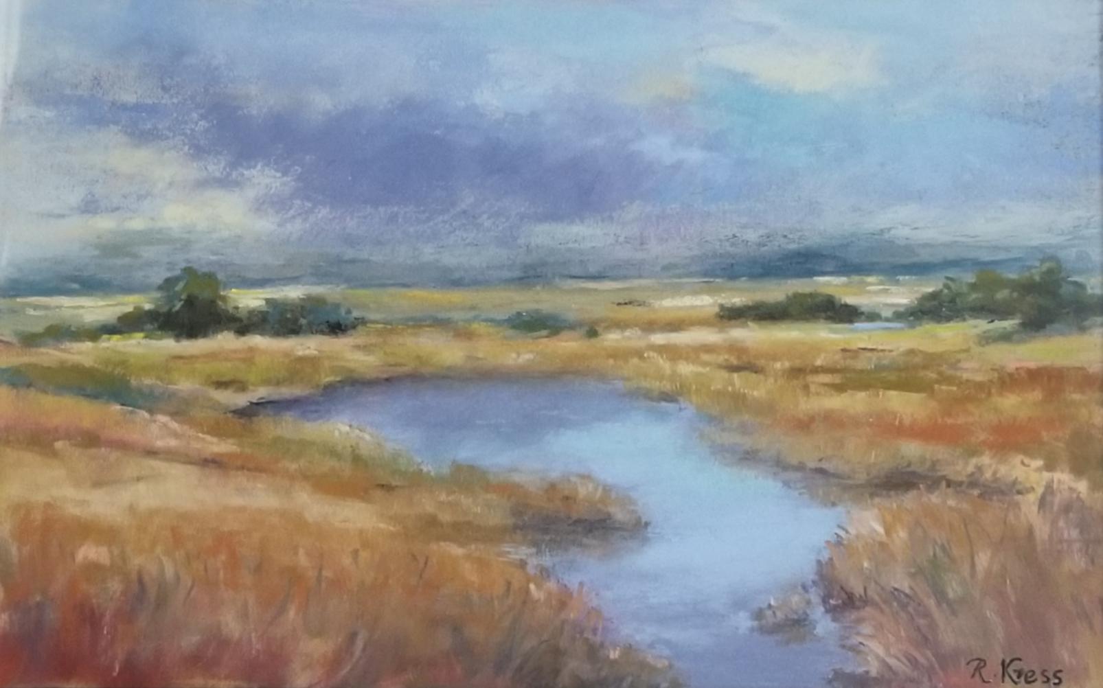 Approaching Storm, Roswitha Kress, 16 x 20, Pastel, $350