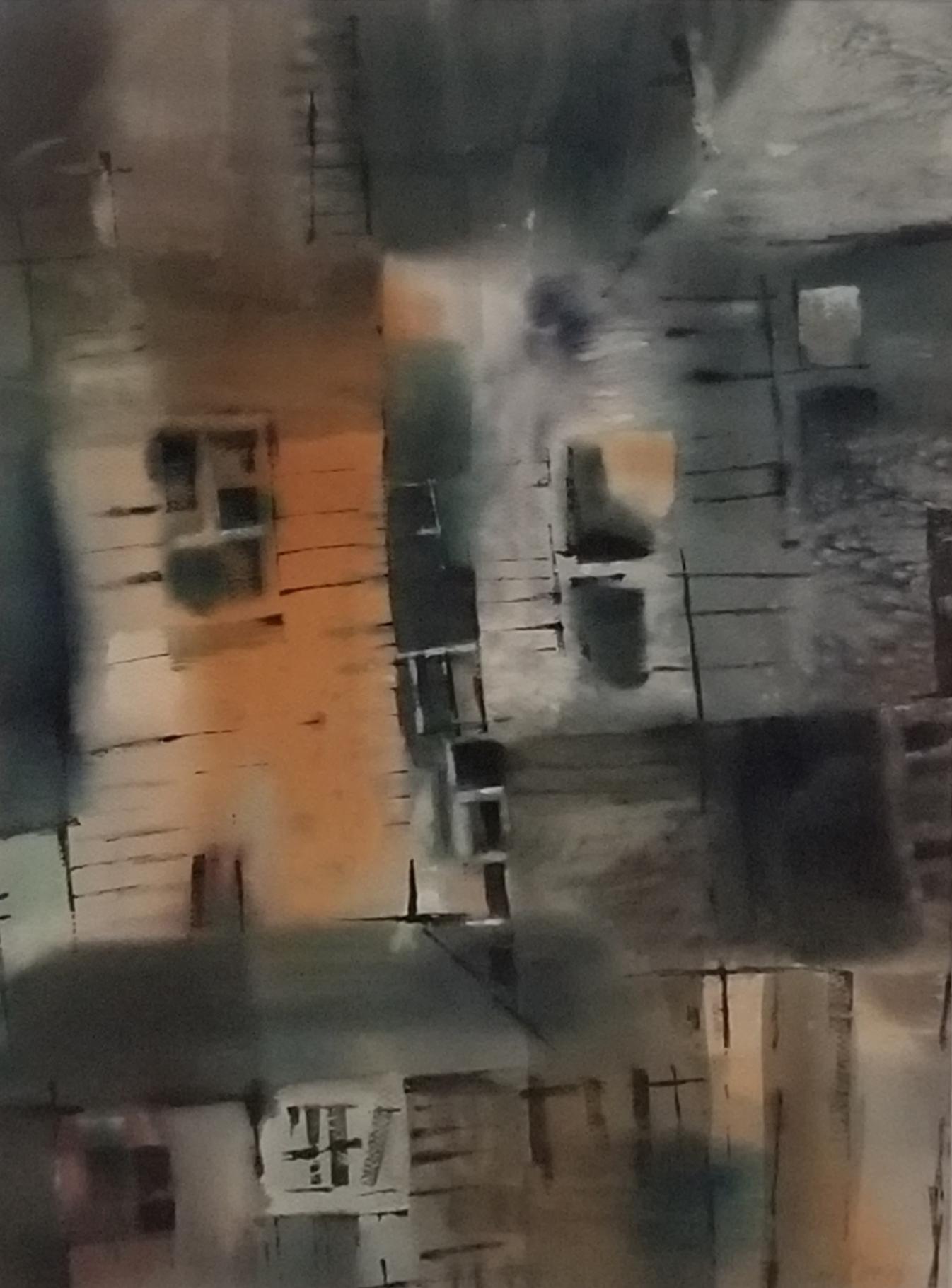 Decaying Buildings:Don Allen, 18 x 24, Watercolor, $850