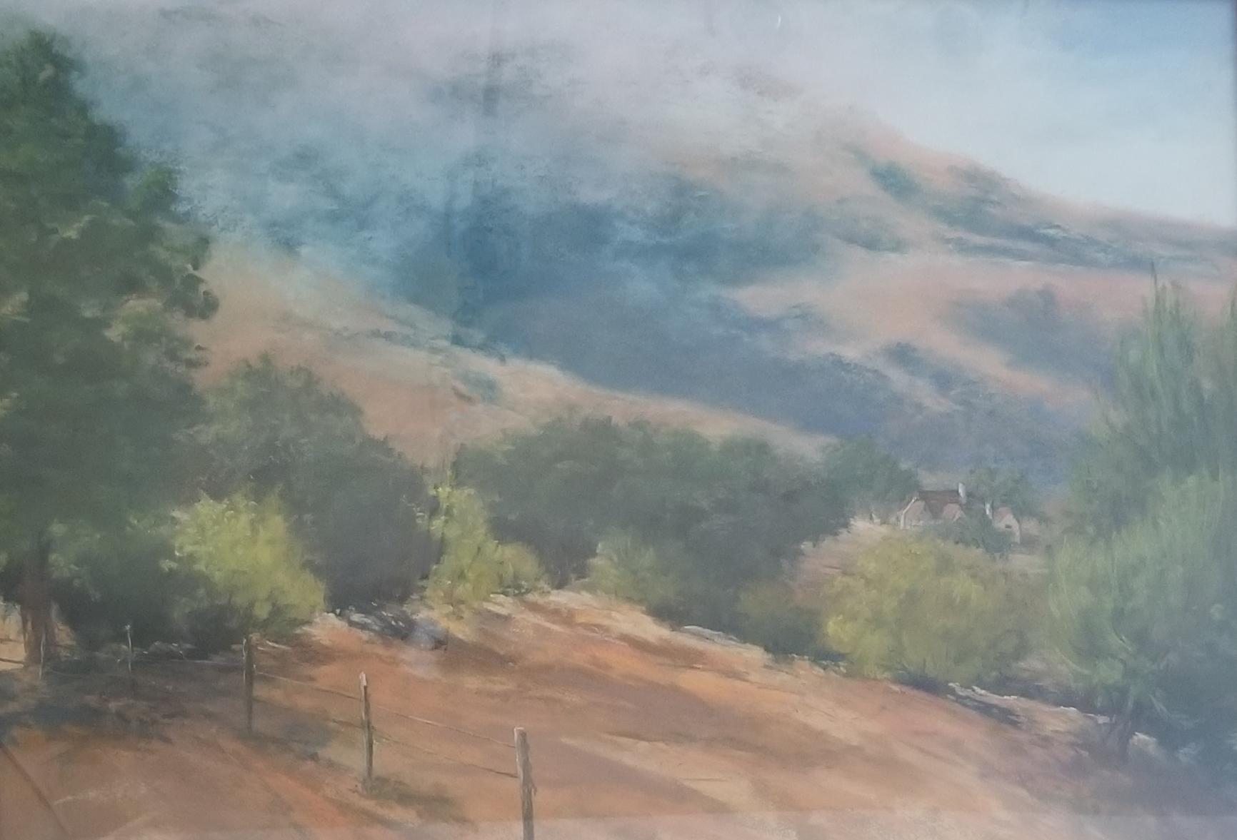 Morning Mist, Roswitha Kress, 23 x 29, pastel on board, $500