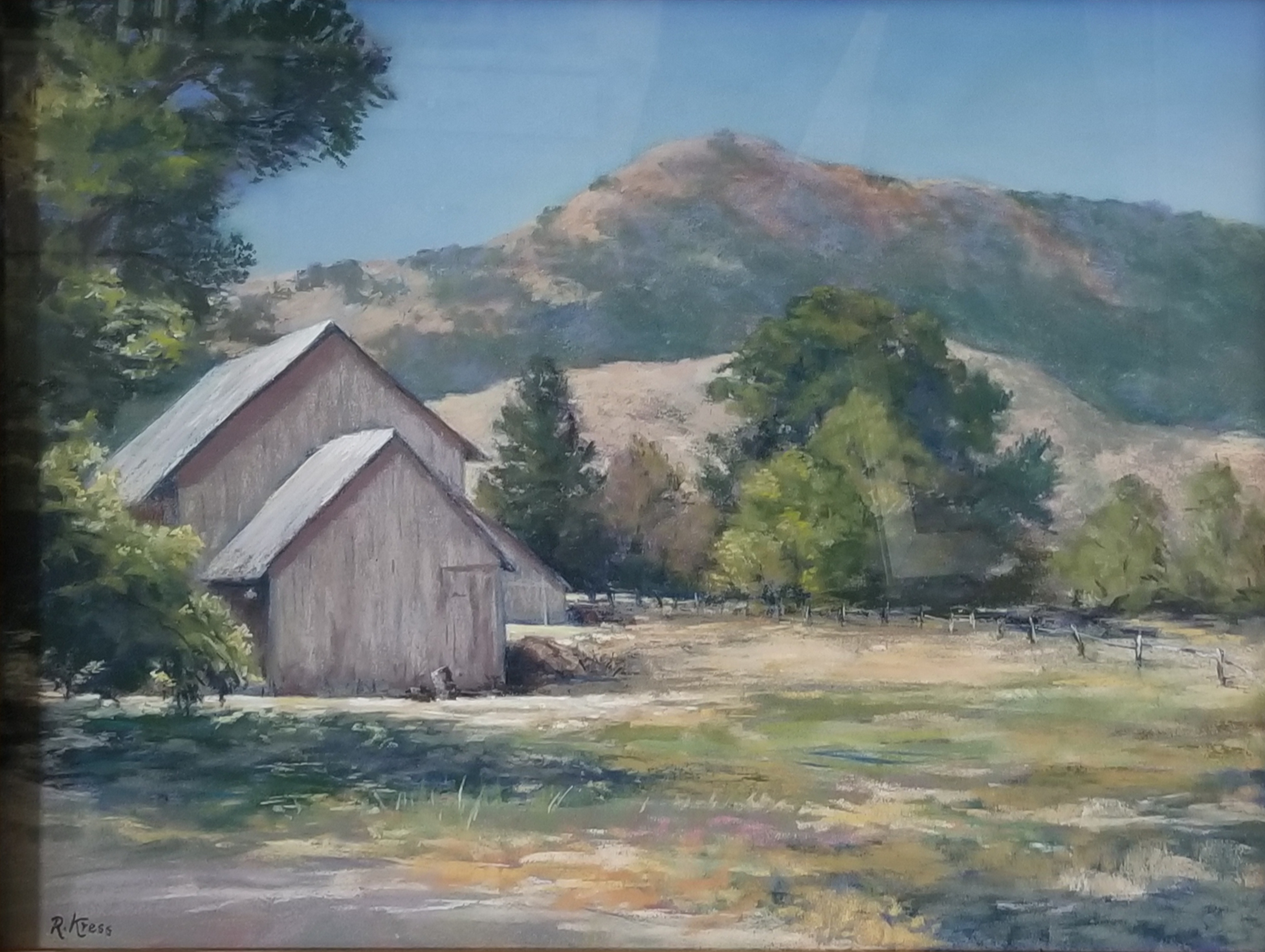 On the Ranch, Roswitha Kress, 23.5 x 29.5, pastel on board, $500